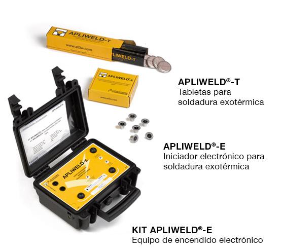 Soldadura exotérmica o aluminotérmica Apliweld-T, Apliweld-E y Kit Apliweld-E