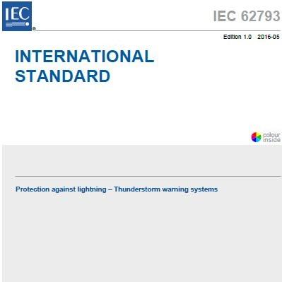 Nueva normativa de Sistemas de Aviso de Tormenta: IEC 62793