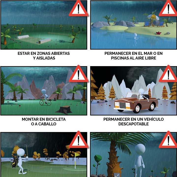 ¿Qué no hay que hacer en caso de tormenta?